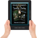 Spooky New ereader graphic w hands
