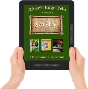 Trio CVR ereader graphic with hands