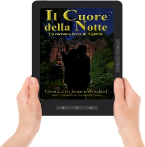 Heart of Night ereader with hands Italian F2